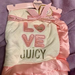 Juicy Couture baby blanket NWT